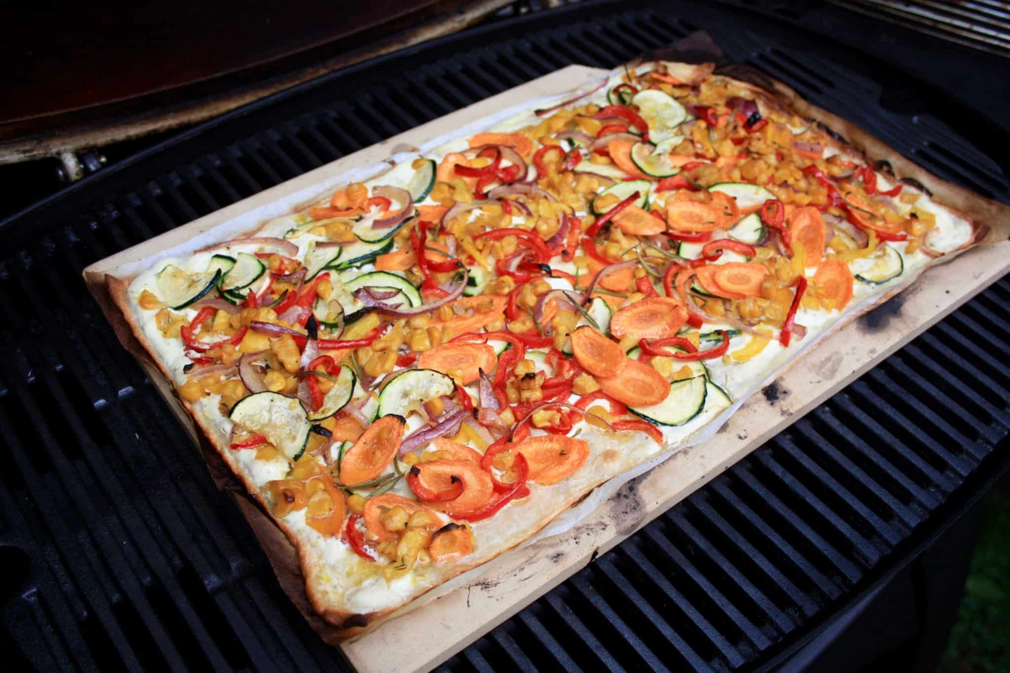 family dinner_vegetarisches Grillen11 flammkuchen