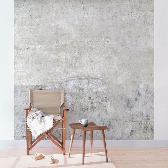 Home sweet home wohnen in beton optik sisters jeans - Betonfarbe wand ...